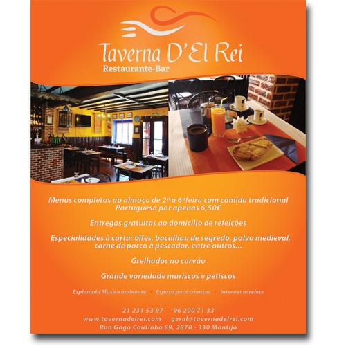 Anuncio Jornal Taverna D'el Rei