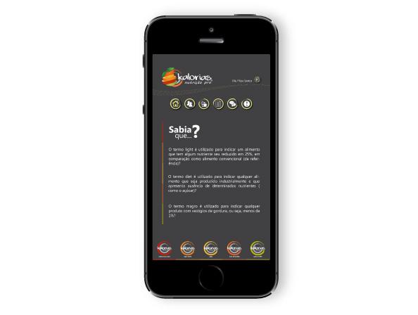 App Kalorias Nutrição Pro