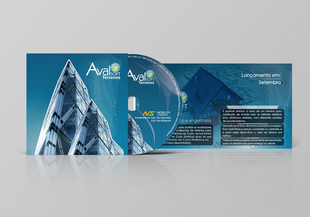 CD e Flyer avalsoft terrenos