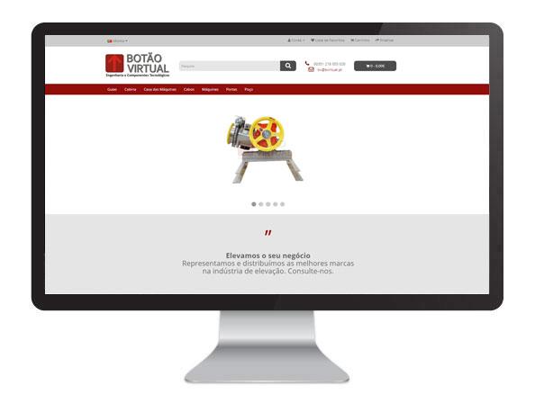 website botão virtual