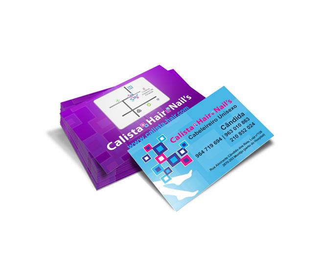 Cartão de visita Calista Hair & Nails