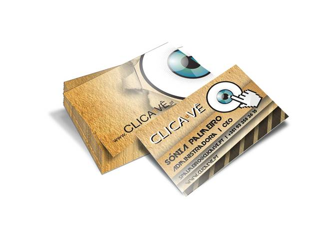 Cartão de Visita Clica e Vê