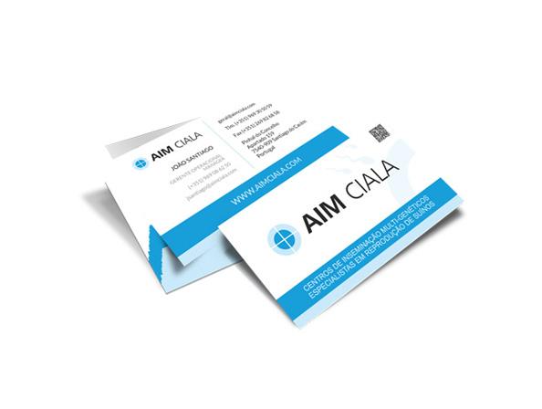 Cartões de Visita - AIM Ciala