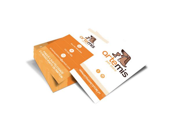 Cartão de visita Artemis Pet Store
