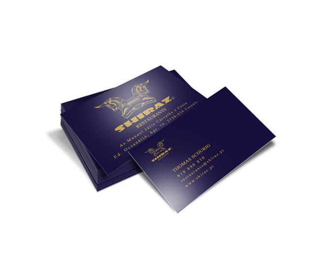 Cartão de Visita Shiraz Restaurants