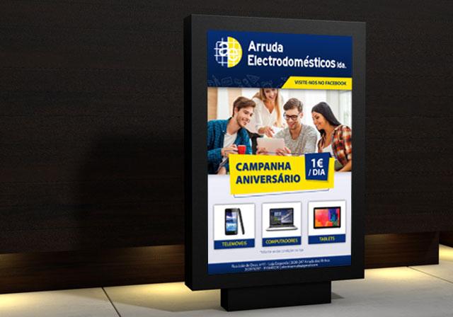 cartaz arruda eletrodomésticos
