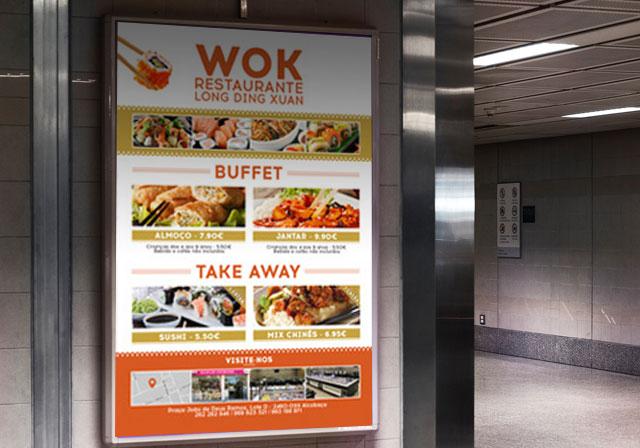 cartaz restaurante