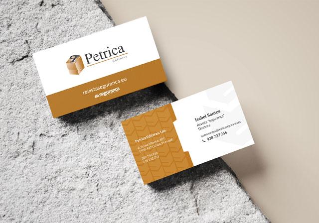 cartão de visita petrica