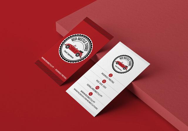 cartão de visita red beetle tours