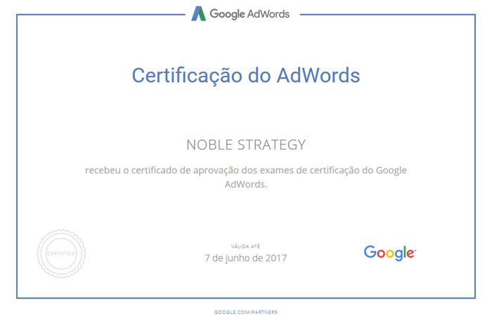 Certificação de AdWords