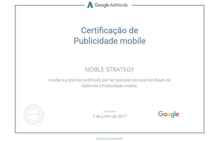 Certificação de Publicidade Mobile