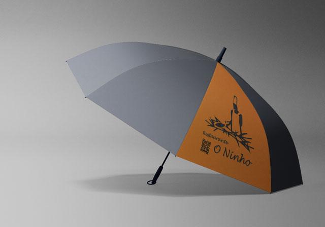 branding chapéu de chuva personalizado