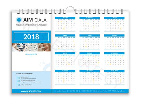 Calendário de Mesa AIM CIALA