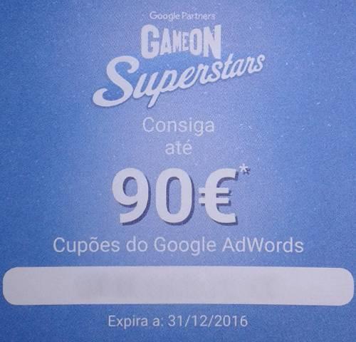 Cupão Google Adwords