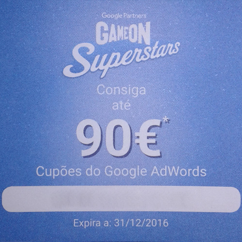 Cupão Google Adwords