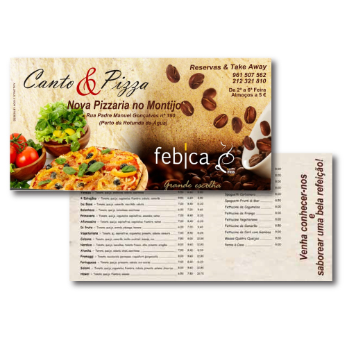 Flyer Canto & Pizza