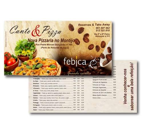 Flyer Canto e Pizza