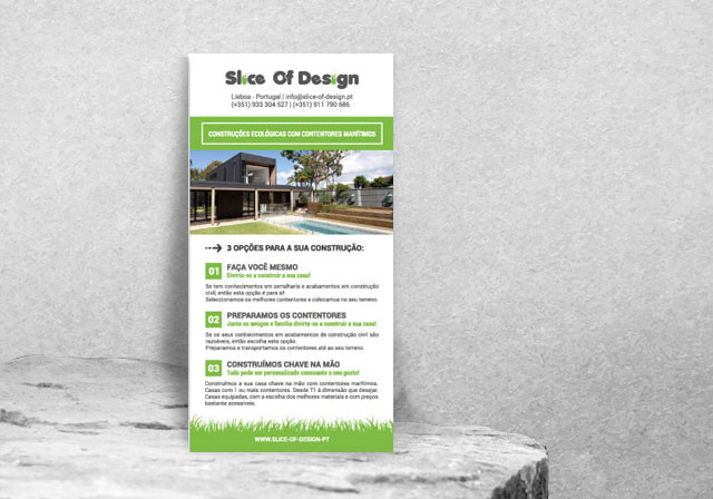 flyer slice of design