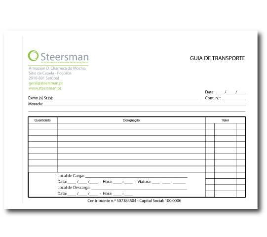 Guia de Transporte Steersman