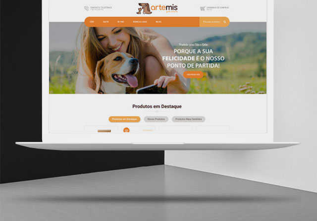 loja online artemis pet store