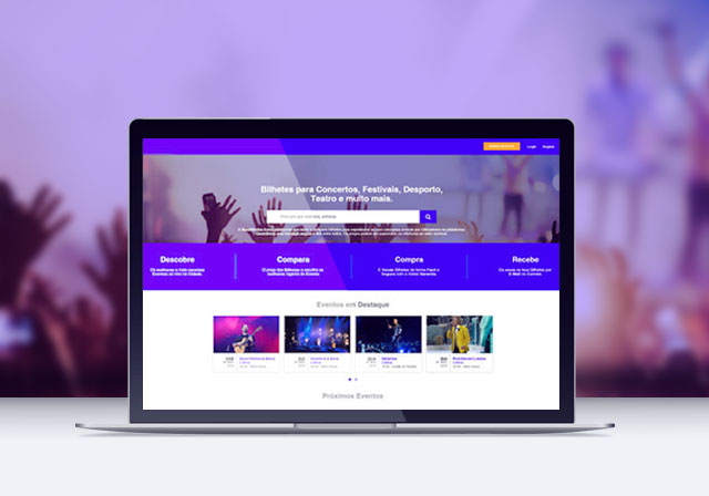 plataforma website loja online tickets
