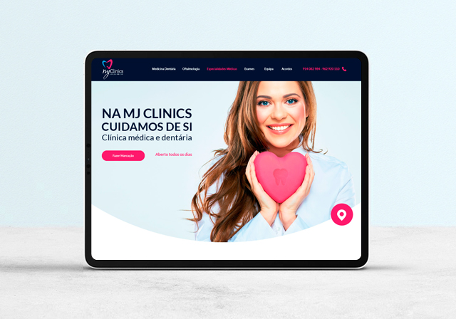 website Clinica médica e dentária