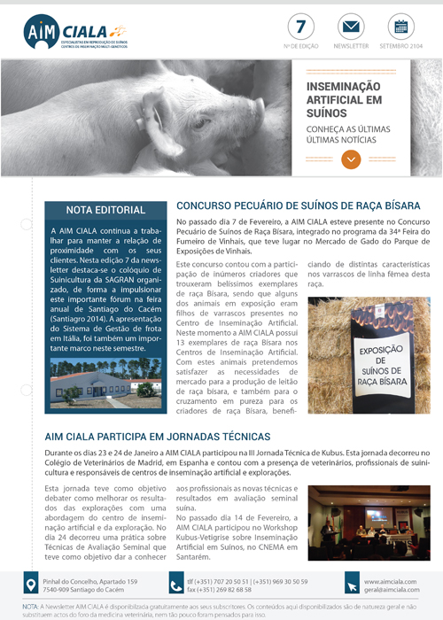 Newsletter AIM Ciala