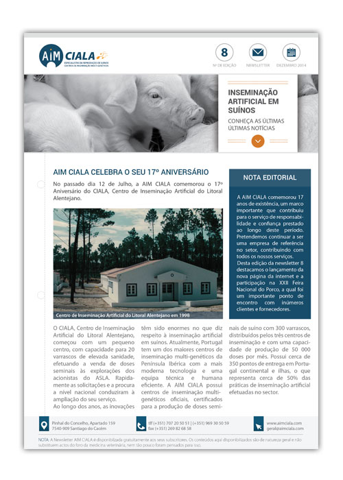 Newsletter AIMCiala