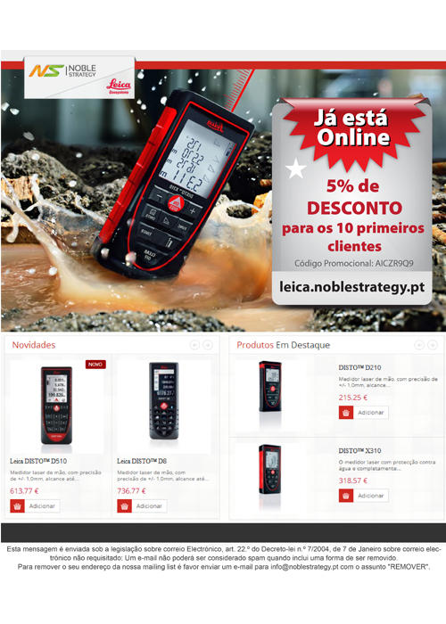 Newsletter Leica NS Store
