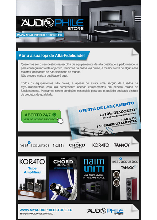 Newsletter MyAudioPhile Store