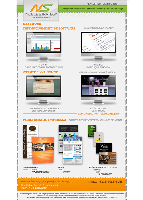 Newsletter Noble Strategy