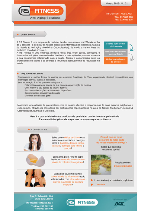 Newsletter RS Fitness