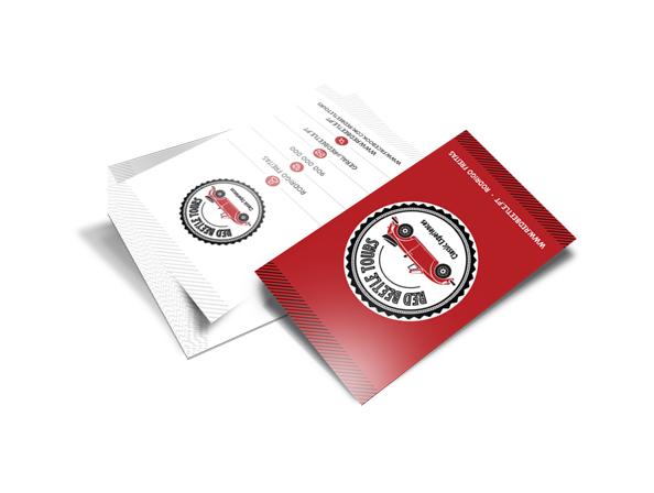 Cartões de Visita - Red Beetle