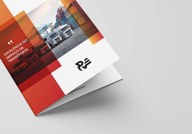 flyer brochura red transitários