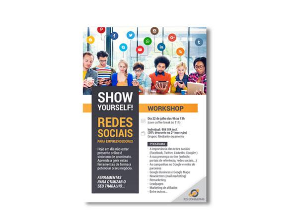 Flyer WorkShop Redes Sociais