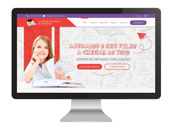 Website Academia de Estudo Infantado