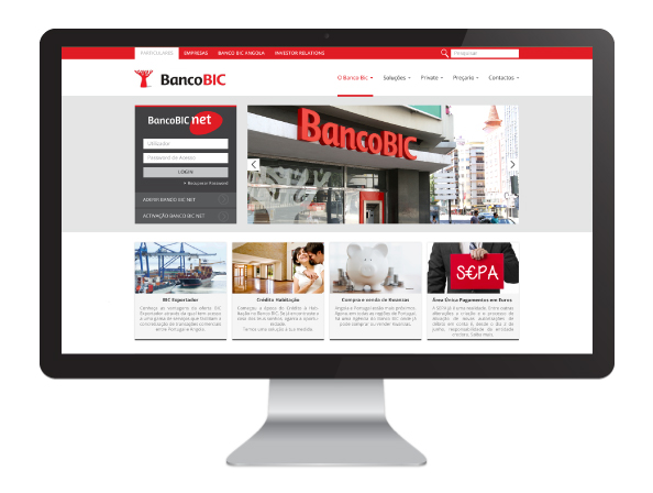 Website Banco BIC