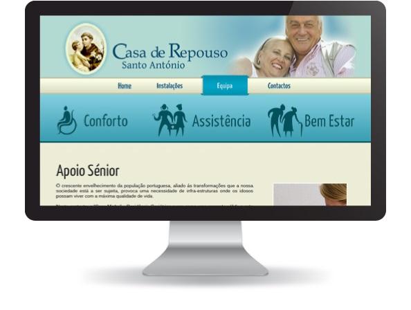 Website Casa de Repouso Santo António