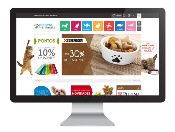 Website planeta dos animais