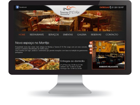 Website Taverna D'el Rei