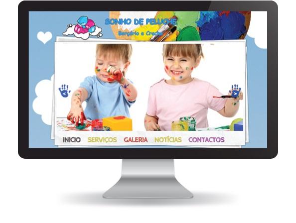 Website Sonho de Peluche