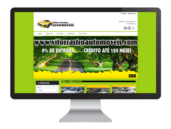 Website Vitor Castro Automoveis