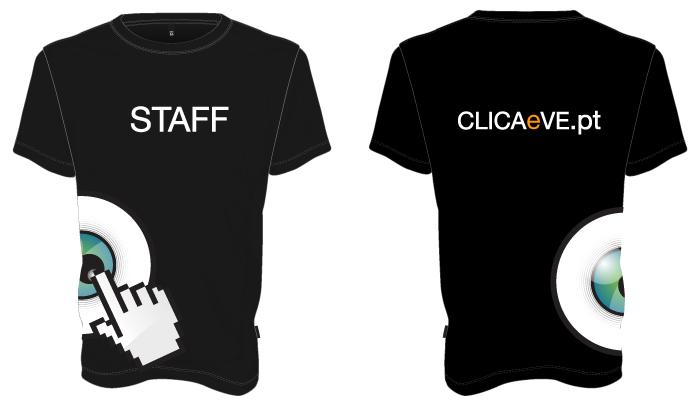 T-Shirt Clica e Vê