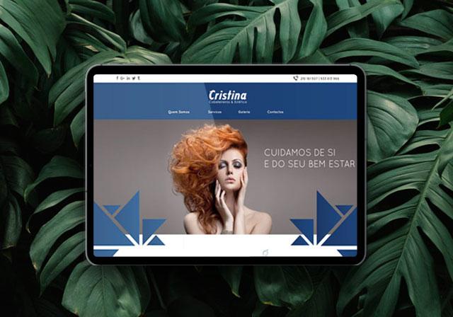 website cristina cabeleireiros