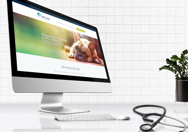 website veterinário