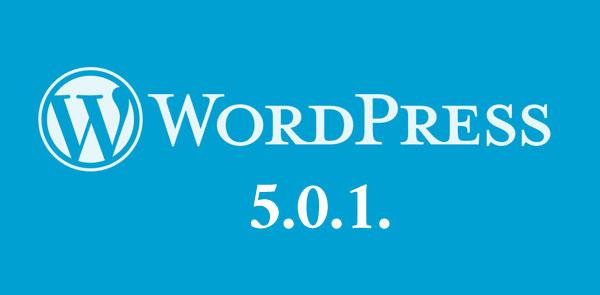 Wordpress 5.0.1
